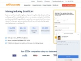 Mining Industry Mailing List | Mining Companies Email List