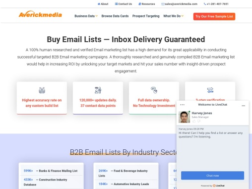Buy Email Lists — Inbox Delivery Guaranteed