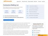 Contractors Mailing List | Email List of Contractors