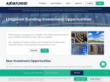 Investment Opportunities   Investing in Lawsuits   AxiaFunder