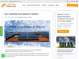 Can I Install My Solar System In Winter?