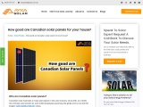 How good are Canadian solar panels for your house?