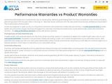 Difference between Performance Warranties and Product Warranties