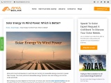 Solar Energy Vs Wind Power: Which is Better?