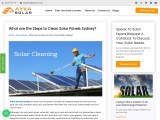What are the Steps to Clean Solar Panels Sydney?