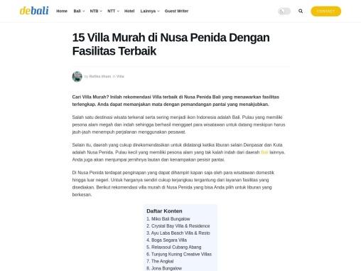 Villa private pool untuk bulan madu yang romantis di Nusa Penida