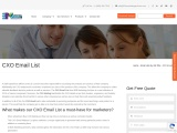 Chief Experience Officer Email List