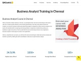 Business Analyst certification course in Chennai
