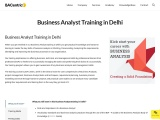 Business Analyst course in Delhi for professionals