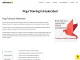 Best Institute for Pega Training in Hyderabad