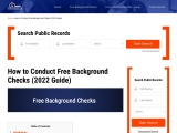 Free Background Check | Online Background Check | Criminal Background Check