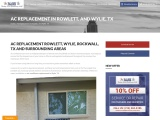 AC Replacement Rowlett Texas