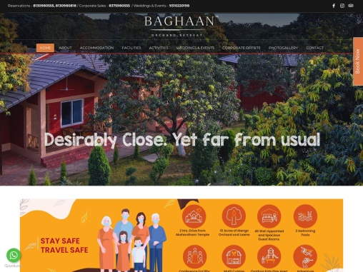 Baghaan – Family Resort – Pet Friendly – Corporate Conferences – Anniversary Celebration