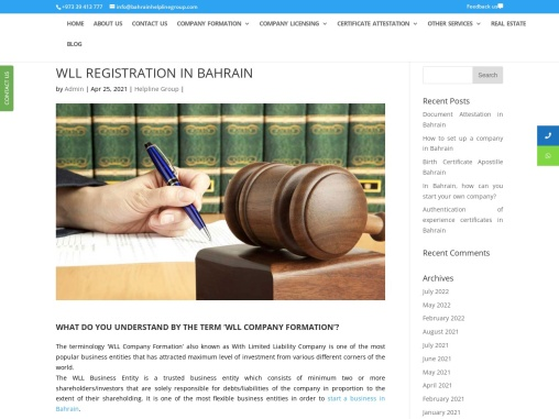 WLL registration Services in Bahrain