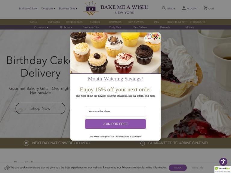 Bake Me A Wish screenshot