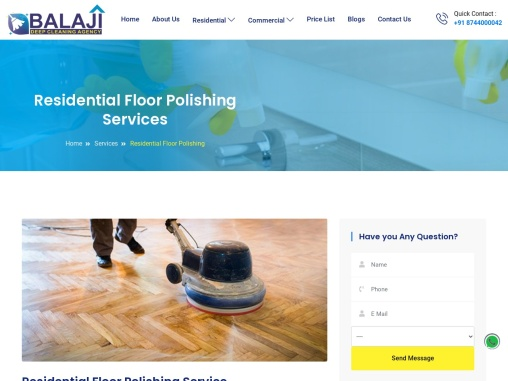 Residential Floor Polishing Services Gurgaon