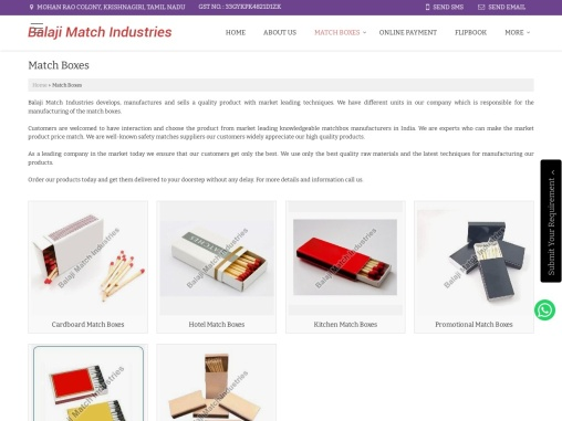 Match Boxes Manufacturers in India