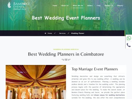 Best Wedding Planners in Coimbatore|Top Wedding Event planners
