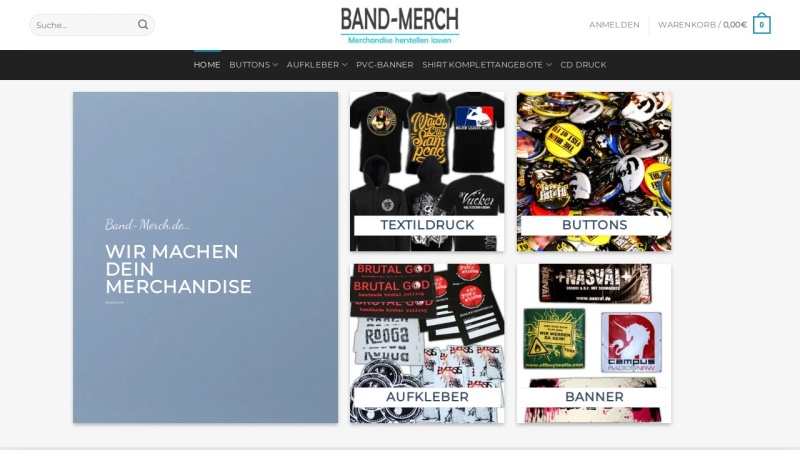 www.band-merch.de Vorschau, Rock`N`Roll Love Merchandise
