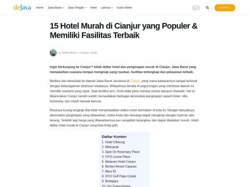 Hotel murah yang strategis di Cianjur Jawa Barat