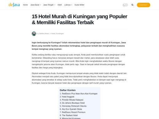 Hotel murah dengan fasilitas memadai di Kuningan Jawa Barat