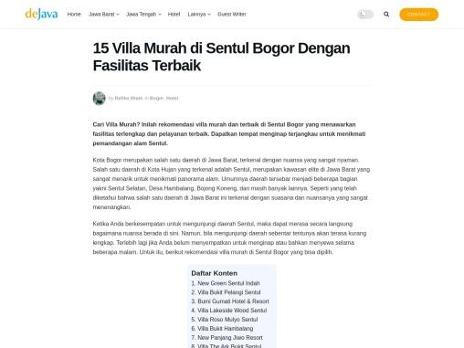 Villa di Sentul Bogor yang ideal dan cocok buat liburan