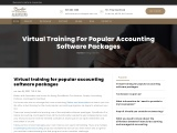 Virtual training for popular accounting software packages
