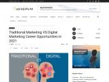 Traditional Marketing VS Digital Marketing Career Opportunities In 2021