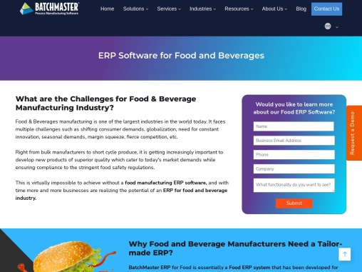 Food and Beverage ERP System   Food ERP Software
