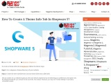 How To Create A Theme Info Tab In Shopware 5?