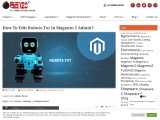 How to Edit robots.txt in Magento 2 Admin