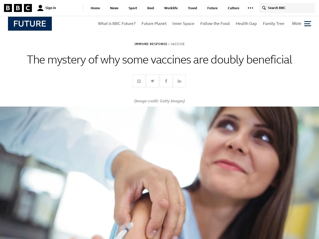The mystery of why some vaccines are doubly beneficial