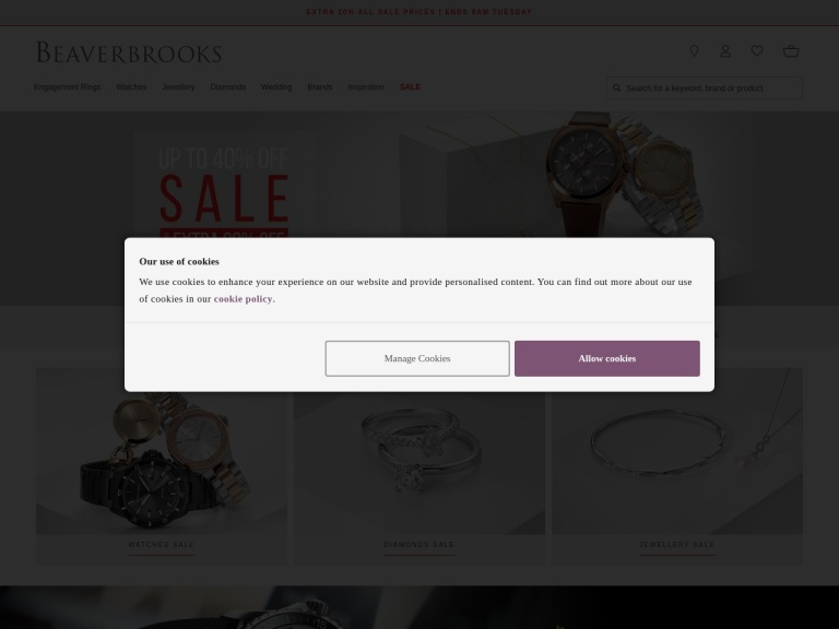 Beaverbrooks Discount Codes & Promo Codes screenshot