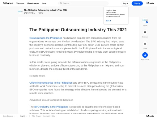 2021 Philippine Outsourcing Industry