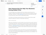 How Outsourcing Can Help Your Business During Global Crisis