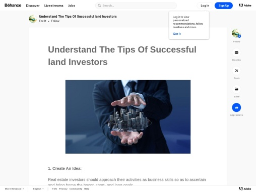 Understand The Tips Of Successful land Investors