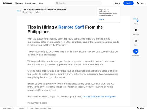 Tips in Hiring a Remote Staff From the Philippines