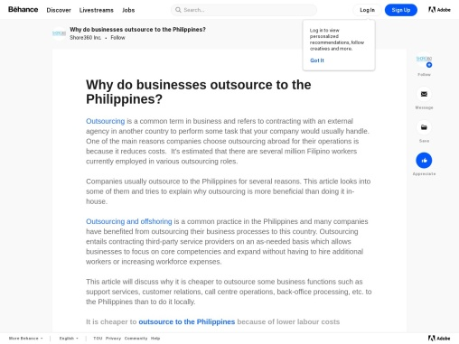 Why Do Businesses Outsource in the Philippines