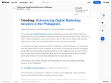 Trending: Outsourcing Digital Marketing Services in the Philippines