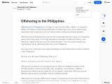 Offshoring To The Philippines 2021