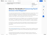 Outsourcing Payroll Services on The Philippines
