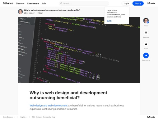 why outsourcing web design and web development for your website?