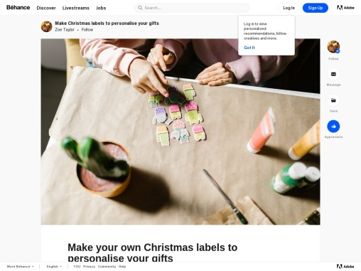 Make your own Christmas labels to personalise your gifts