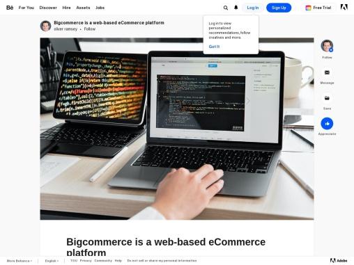 Bigcommerce is a web-based eCommerce platform
