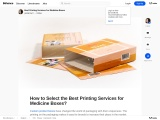 How to Select the Best Printing Services for Medicine Boxes?