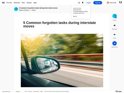 5 Common forgotten tasks during interstate moves