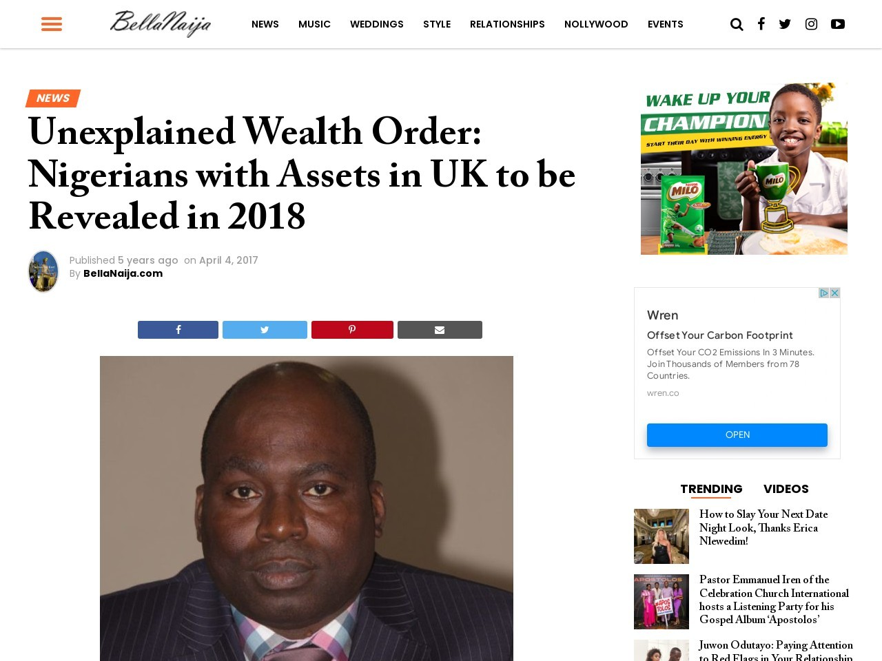Unexplained Wealth Order: Nigerians with Assets in UK to be Revealed in 2018