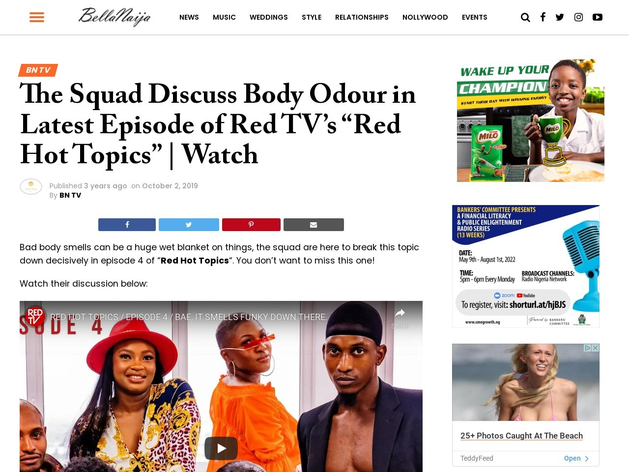 """The Squad Discuss Body Odour in Latest Episode of Red TV's """"Red Hot Topics"""" 