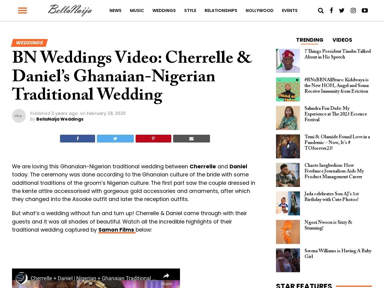 BN Weddings Video: Cherrelle & Daniel's Ghanaian-Nigerian Traditional Wedding