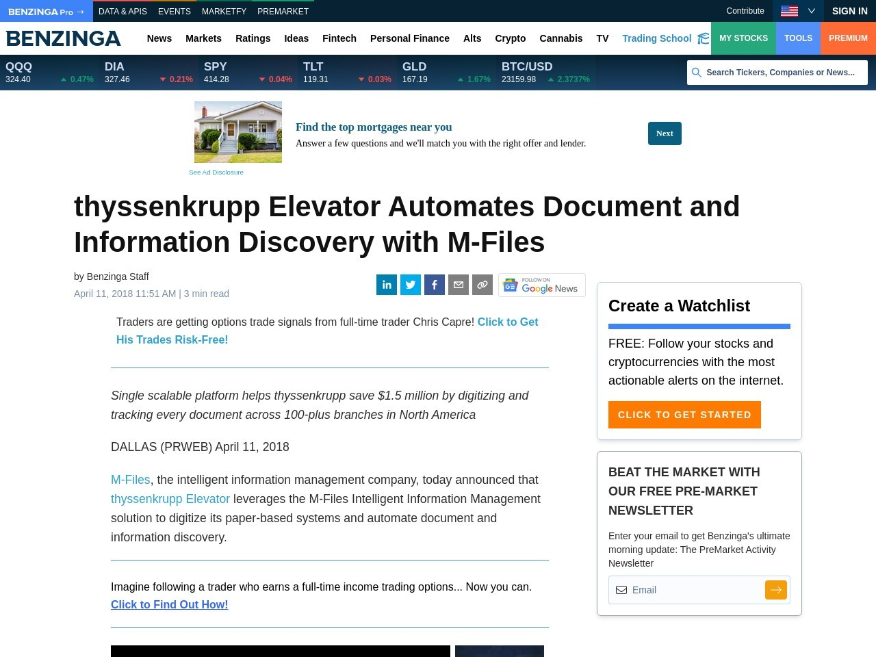 thyssenkrupp Elevator Automates Document and Information Discovery with M-Files